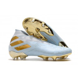 adidas Nemeziz 19+ FG Scarpa da Calcio -Acqua Bold/ Oro Metallico/ Bianco