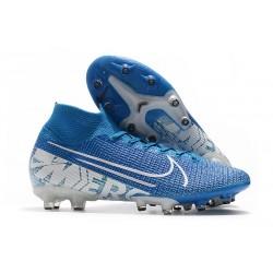 Scarpa Nike Mercurial Superfly VII Elite AG-PRO Blu Bianco
