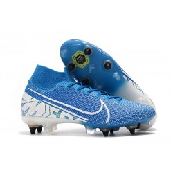 Nike Mercurial Superfly 7 Elite SG-Pro AC Blu Bianco