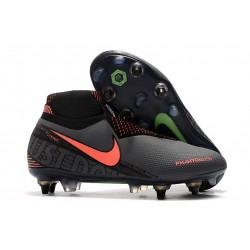 Nike Phantom VSN Elite DF SG-Pro AC Grigio Scuro Mango Acceso Nero