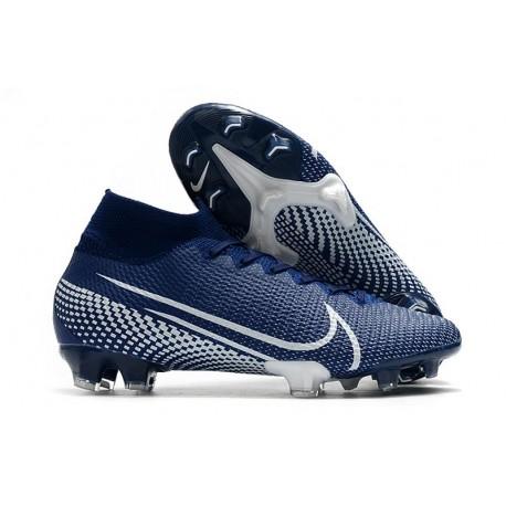 Scarpa Calcio Nike Mercurial Superfly 7 Elite SE FG - Blu Bianco