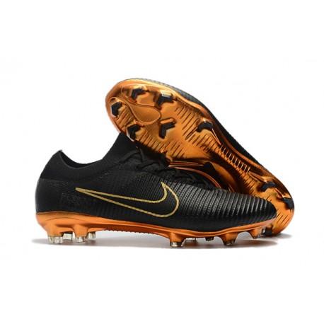 Nike Mercurial Vapor Flyknit Ultra FG Scarpe da Calcio Nero Oro