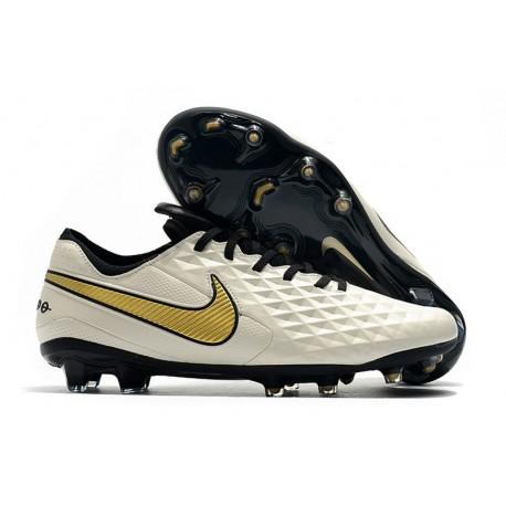 Nike Scarpe da Calcio Tiempo Legend 8 Elite FG - Bianco Oro
