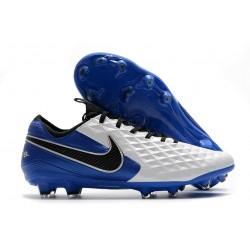 Scarpa Nike Tiempo Legend VIII Elite FG ACC Bianco Nero Blu