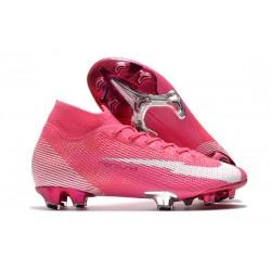 Nike Mercurial Superfly 7 Elite FG x Mbappé Rosa Blast Bianco Nero