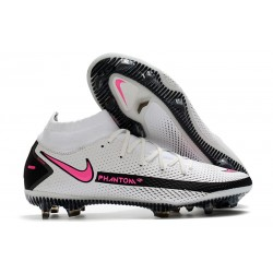 Nike Scarpe Phantom GT Elite Dynamic Fit FG Bianco Rosa Blast Nero
