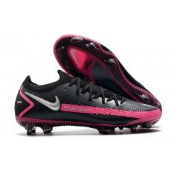 Scarpe da Calcio Nuovo Nike Phantom GT Elite FG Nero Argento Rosa Blast