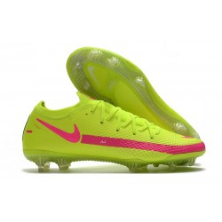 Scarpe da Calcio Nuovo Nike Phantom GT Elite FG Giallo Rosa
