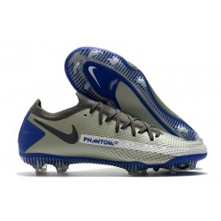 Scarpe da Calcio Nuovo Nike Phantom GT Elite FG Grigio Blu Nero