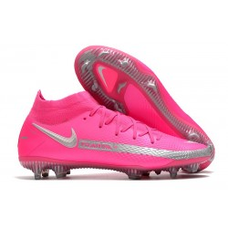 Nike Scarpe Phantom GT Elite Dynamic Fit FG Rosa Argento