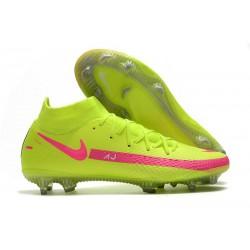 Nuovo Scarpa Nike Phantom GT Elite DF FG Verde Rosa