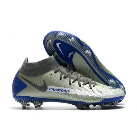 Nuovo Scarpa Nike Phantom GT Elite DF FG Argento Blu