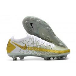 Scarpe da Calcio Nuovo Nike Phantom GT Elite FG Oro Bianco
