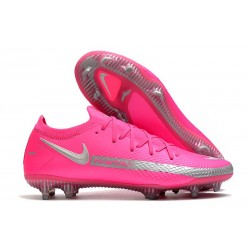 Scarpe da Calcio Nuovo Nike Phantom GT Elite FG Rosa Argento
